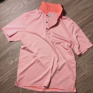 Izod orange white golf polo
